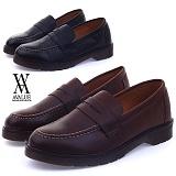 [에이벨류]420-centrul 남성 패니 로퍼 슈즈-4cm (블랙.브라운) 남자 카스트 신발 구두 정장 단화