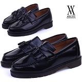 [에이벨류]490-feron 남성 태슬 유광 로퍼 슈즈-3cm (블랙.브라운) 남자 페론 캐주얼 신발 구두 정장 단화