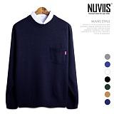 [뉴비스] NUVIIS - 포켓 트임 오버핏 라운드 니트 (DS082KN)