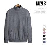 [뉴비스] NUVIIS - 포켓 오버핏 후리스 터틀넥 맨투맨 (SO022MT)