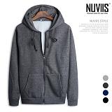 [뉴비스] NUVIIS - 심플 컬러 기모 후드 집업 (SP032HDZ)