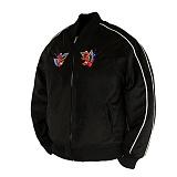 [로맨틱크라운X세서미스트리트]ROMANTIC CROWN - ELMO 6OZ WINTER SOUVENIR JACKET_BLACK 엘모 윈터 스베니어 스카쟌 재킷 자켓