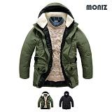 [모니즈]MONIZ 넥 양털 웰론 패딩 점퍼 PJP074