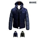 [모니즈]MONIZ 후드 레이어드 패딩 점퍼 PJP033