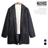[뉴비스] NUVIIS - 멜턴 싱글 오버핏코트 (BN076CT)