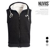 [뉴비스] NUVIIS - 남녀공용 양털 후드 조끼 (JN009VS)