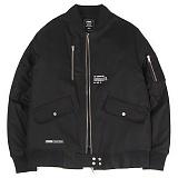 [앱놀머씽] MA-1 Bomber Jacket (Black) 봄버 자켓