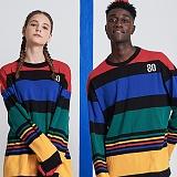 AROUND 80 - Multi stripe T-shirt 멀티스트라이프 긴팔티셔츠