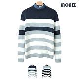[모니즈]MONIZ 배색 단가라 니트 KNR038