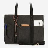 [모노노] MONONO - 8 Pocket 3 Way Bag Wax Canvas Charcoal 캔버스 숄더백 토트백