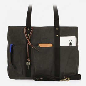 [모노노] MONONO - 8 Pocket 3 Way Bag Wax Canvas Charcoal 캔버스 숄더백 토트백