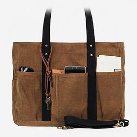 [모노노] MONONO - 8 Pocket 3 Way Bag Wax Canvas Camel 캔버스 숄더백 토트백