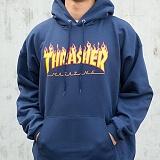 [트래셔] THRASHER FLAME HOOD (NAVY) 플래임 불꽃 후디 후드