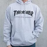 [트래셔] THRASHER SKATE MAG HOOD (GREY) 스케이트 매그 후디 후드
