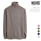[뉴비스] NUVIIS - 울 투톤 폴라니트 (DS092KN) 터틀넥