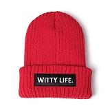 [위티나트]WxA - WITTY LIFE BEANIE (red)_비니_모자