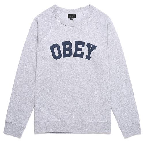 [오베이]OBEY - ACADEMY CREW 112421332 (HEATHER GREY) 맨투맨
