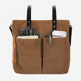 [모노노] MONONO - 6 Pocket 3 Way Bag Wax Canvas Camel 캔버스 숄더백 토트백