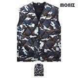 [모니즈]MONIZ 브이넥 밀리터리 깔깔이조끼 KKA253
