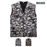 [모니즈]MONIZ 브이넥 모자이크 깔깔이조끼 KKA252