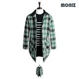 [모니즈]MONIZ 누빔 수박체크 코트 CTM109