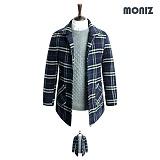 [모니즈]MONIZ 누빔 믹스체크 코트 CTM108