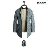[모니즈]MONIZ 누빔 보카시 원버튼 코트 CTM105