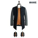 [모니즈]MONIZ 소매 배색 코트 CTM062