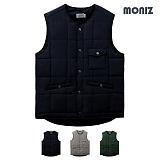 [모니즈]MONIZ 사이드포켓 스퀘어 패딩 조끼 PVT017
