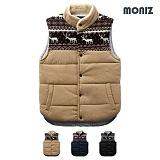 [모니즈]MONIZ 루돌프 패턴 양털 패딩 조끼 PVT015
