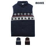[모니즈]MONIZ 스노우 패턴 라인 패딩 조끼 PVT014