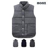 [모니즈]MONIZ 사선 라인 포켓 패딩 조끼 PVT013