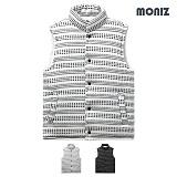 [모니즈]MONIZ 자가드 패턴 라인 패딩 조끼 PVT010