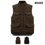[모니즈]MONIZ 아웃포켓 버튼 포인트 패딩 조끼 PVT009
