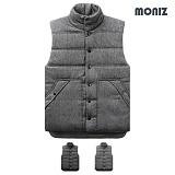 [모니즈]MONIZ 투버튼 하이넥 패딩 조끼 PVT008