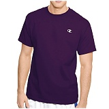 [CHAMPION]챔피온 맨즈 로고 반팔 티셔츠 CPT2226 딥퍼플 남녀공용 Champion 정품 국내배송