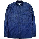 [언커먼팩터스]UFS - BASEBALL COLLAR SHIRT JACKET 블루종 베이스볼자켓 데님셔츠 청남방 셔츠자켓 셔츠 남방