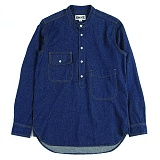 [언커먼팩터스]UFS - BANDED COLLAR PULLOVER DENIM SHIRT 풀오버 데님셔츠 청남방 셔츠 남방