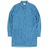 [언커먼팩터스]UFS - BIO WASHED DENIM LONG SHIRT 데님셔츠 청남방 롱셔츠 셔츠 남방