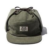 [디얼스]THE EARTH - CORDUROY EARFLAP CAMP CAP - OLIVE 캠프캡 모자