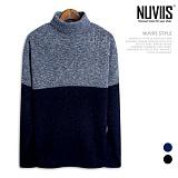 [뉴비스] NUVIIS - 보카시 2단배색 폴라 니트 (RM029KN) 터틀넥