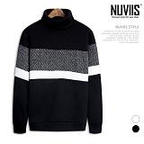 [뉴비스] NUVIIS - 헤링본 오버핏 니트폴라 맨투맨 (RM028MT)