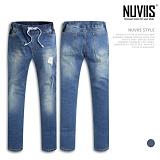 [뉴비스] NUVIIS - 스트레이트 밴딩 데님 팬츠 (JM035LJR) 청바지