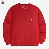 [코싸] koxa symbol 017 mtm-k red 기모 맨투맨 크루넥 스��셔츠