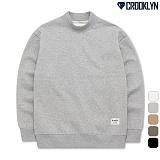[크루클린] CROOKLYN 반폴라 맨투맨 MRL455 크루넥 스��셔츠