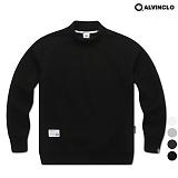 [앨빈클로]ALVINCLO MAR-650B 반폴라무지 맨투맨 크루넥 스��셔츠