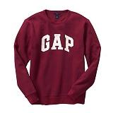 [GAP]갭  로고 맨투맨 긴팔티셔츠 359290 07 와인 GAP 남녀공용 정품 국내배송