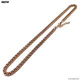 SEXTO - [써지컬스틸]W-011 chain necklace Rose Gold 목걸이