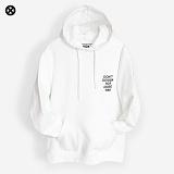 [코싸] koxa dontdesign hoodie-k white 기모 후드티
