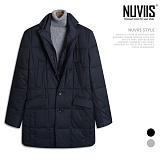 [뉴비스] NUVIIS - 포켓 레이어드 패딩코트 (WS021CT)